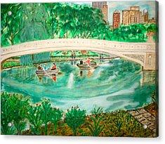 Bow Bridge Central Park Acrylic Print