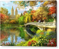 Bow Bridge Acrylic Print by Dominic Davison