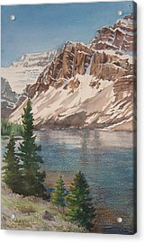 Bow Lake Alberta Acrylic Print by Debbie Homewood