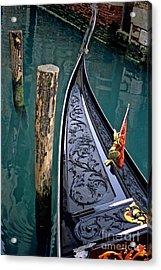 Bow Of Gondola In Venice Acrylic Print by Michael Henderson
