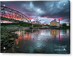 Bowdoin Mill Sunset Acrylic Print