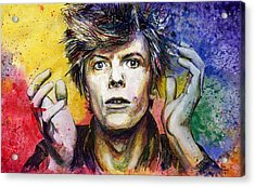 Bowie Acrylic Print by Nate Michaels