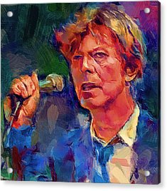 Bowie Singing 2 Acrylic Print