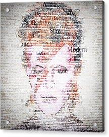 Bowie Typo Acrylic Print