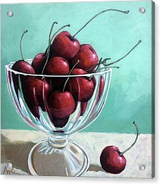 Bowl Of Cherries Acrylic Print