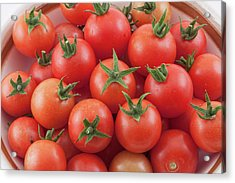 Acrylic Print featuring the photograph Bowl Of Cherry Tomatoes by James BO Insogna