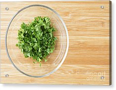 Bowl Of Chopped Parsley Acrylic Print