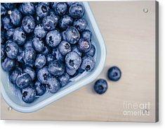 Bowl Of Fresh Blueberries Acrylic Print