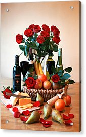 Bowl Of Fruit For The Perfect Picnic Acrylic Print