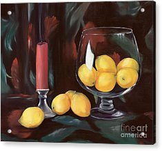 Bowl Of Lemons Acrylic Print