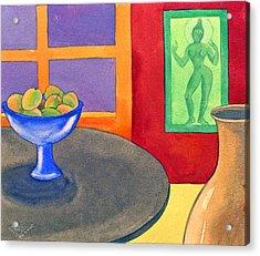 Bowl Of Mangoes Acrylic Print by Jennifer Baird
