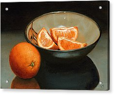 Bowl Of Oranges Acrylic Print