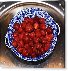 Bowl Of Strawberries 1 Acrylic Print by Douglas Barnett