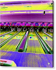 Bowling Alley Acrylic Print by Peter  McIntosh