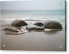 Acrylic Print featuring the photograph Bowling Ball Beach by Francesco Emanuele Carucci