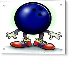 Bowling Acrylic Print by Kevin Middleton