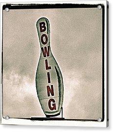 Bowling Acrylic Print by Photograph by Bob Travaglione FoToEdge