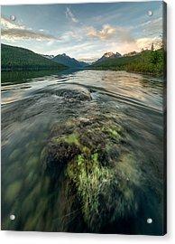 Sunset // Bowman Lake, Glacier National Park  Acrylic Print by Nicholas Parker