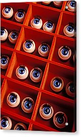 Box Full Of Doll Eyes Acrylic Print by Garry Gay