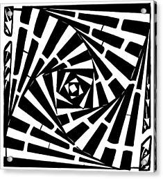 Box In A Box Maze Acrylic Print by Yonatan Frimer Maze Artist