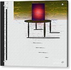 Box On A Table Acrylic Print by John Krakora