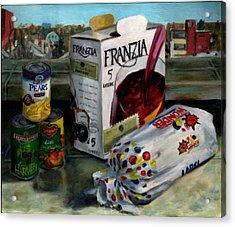 Box Wine With Bread No. 1 Acrylic Print by Thomas Weeks
