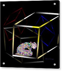 Boxed In Digital Abstract Acrylic Print by Kae Cheatham