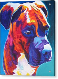 Boxer - Jax Acrylic Print by Alicia VanNoy Call