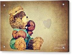 Boxer Bear II Acrylic Print by Angela Doelling AD DESIGN Photo and PhotoArt