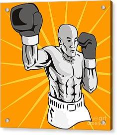 Boxer Boxing Knockout Punch Retro Acrylic Print