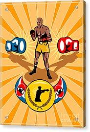 Boxer Boxing Poster Acrylic Print by Aloysius Patrimonio