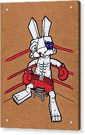 Boxer Bunny Acrylic Print by Bizarre Bunny