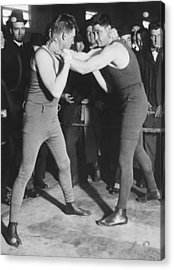 Boxer Frank Moran In Training Acrylic Print by Underwood Archives