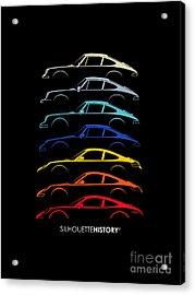 Boxer Sports Car Silhouettehistory Acrylic Print by Gabor Vida