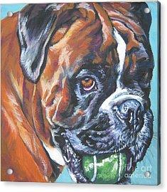 Boxer Tennis Acrylic Print by Lee Ann Shepard