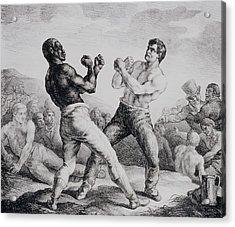 Boxers Acrylic Print by Theodore Gericault