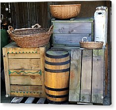 Boxes And Baskets Acrylic Print by Emily Kelley
