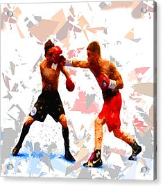 Acrylic Print featuring the painting Boxing 113 by Movie Poster Prints