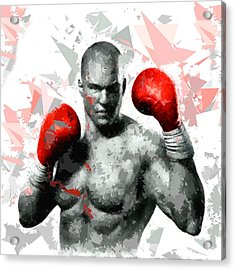 Acrylic Print featuring the painting Boxing 114 by Movie Poster Prints