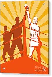 Boxing Champion Acrylic Print by Aloysius Patrimonio