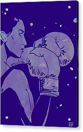 Acrylic Print featuring the drawing Boxing Club 2 by Giuseppe Cristiano