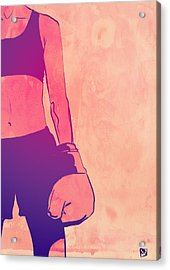 Acrylic Print featuring the drawing Boxing Club 3 by Giuseppe Cristiano