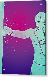 Acrylic Print featuring the drawing Boxing Club 6 by Giuseppe Cristiano