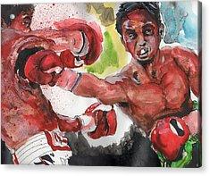 Boxing Fury Acrylic Print by Matt Burke