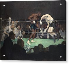 Boxing Match Acrylic Print by George Luks