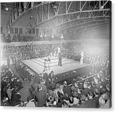 Boxing Match In 1916 Acrylic Print by American School