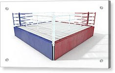 Boxing Ring Modern Isolated Acrylic Print by Allan Swart
