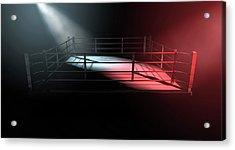 Boxing Ring Opposing Corners Acrylic Print