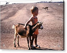 Boy And A Goat Acrylic Print