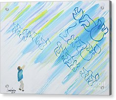 Boy And Shma Shema Acrylic Print